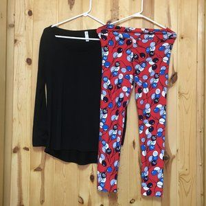 EUC Lularoe Bundle Top Sm Legging One Size 0-10